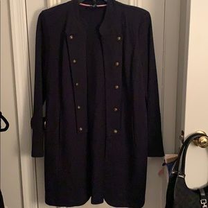 Long Navy button Jacket